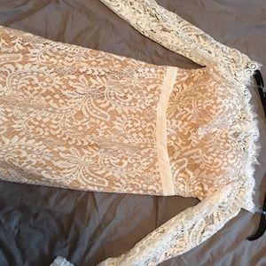 Vici Dresses - White lace mermaid dress